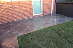Natural granite paving, DNA certified Sir Walter Buffalo instant lawn