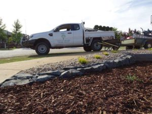 Gaffkes Garden and Landscaping ute on site